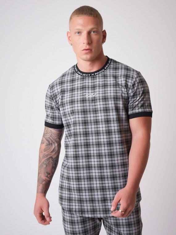 tee-shirt-manches-courtes-elstiquees-a-carreaux-noir-2010135