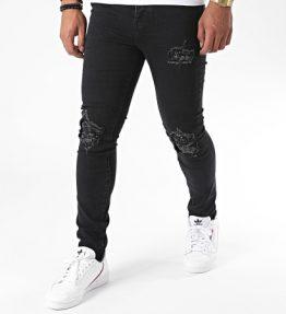 Jean biker bandana noir