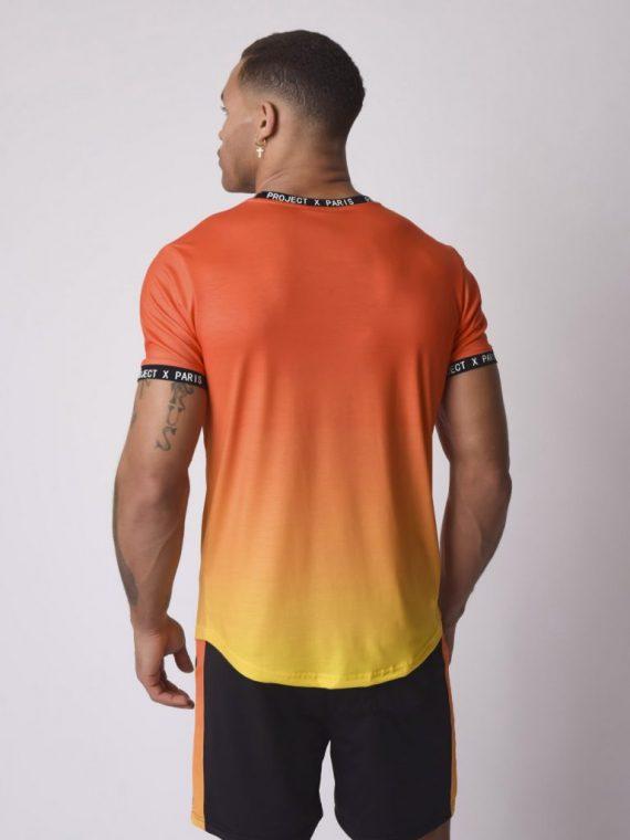 Tee-shirt dégradé sublimation avec broderie logo buste
