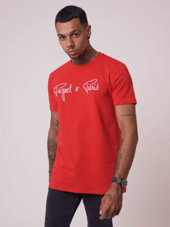 Tee-shirt basic broderie logo Project X Paris