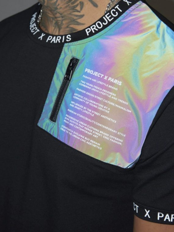 Tee-shirt empiècement et message texte