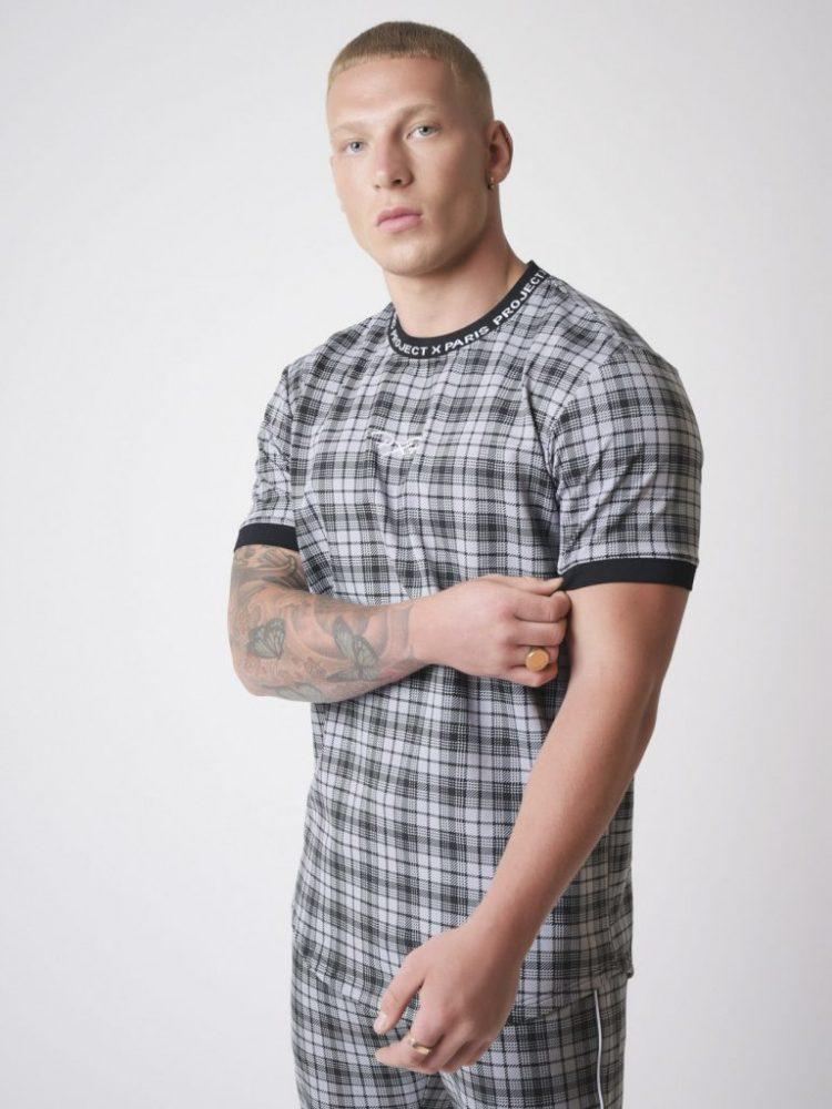 tee-shirt-manches-courtes-elstiquees-a-carreaux-noir-2010135 (2)