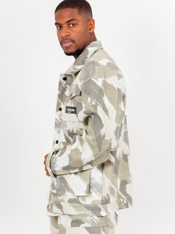Veste camouflage cargo vert
