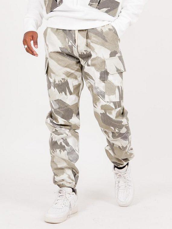 Pantalon camouflage cargo vert