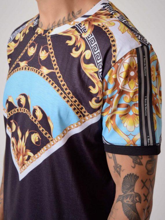 "Tee-shirt motif baroque ""Baba Collab"""
