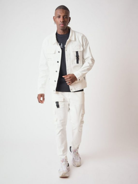 Pantalon Style Cargo poche transparente